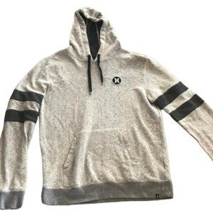 Hurley Mens Gray/ Black Flecked Hoodie L